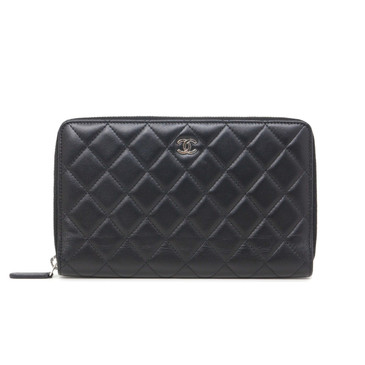 Chanel Black Quilted Lambskin Organizer Wallet