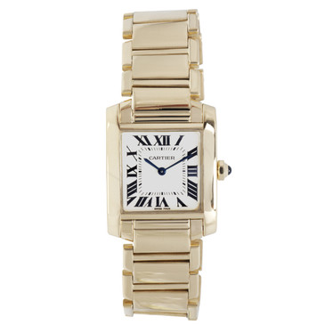 Cartier 18K Yellow Gold Tank Francaise Ladies Watch
