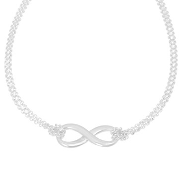 Tiffany & Co. Sterling Silver Infinity  Necklace