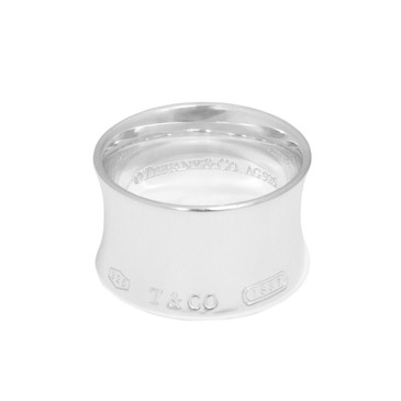 Tiffany & Co. Sterling Silver 1837 Wide Ring