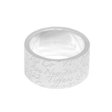 Tiffany & Co. Sterling Silver Notes Ring