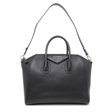 Givenchy Black Sugar Goatskin Medium Antigona