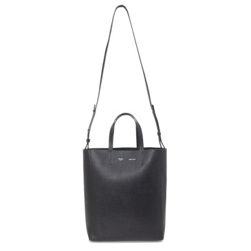 Celine Black Grained Calfskin Small Vertical Cabas  Tote