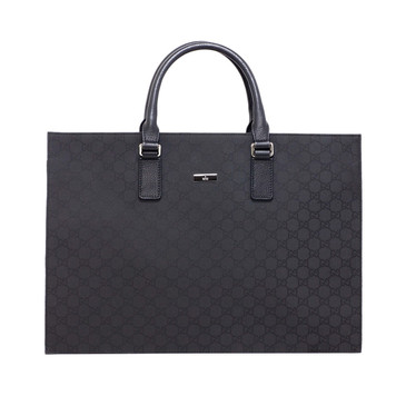 Gucci Black Nylon Monogram Briefcase