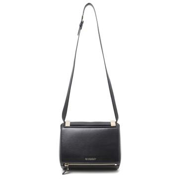 Givenchy Black Textured Calfskin Medium Pandora Box Shoulder  Bag