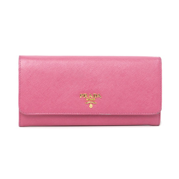 Prada Pink Saffiano Continental Wallet
