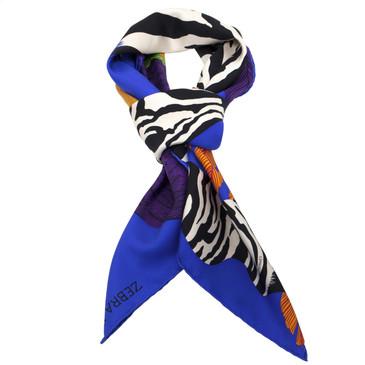 Hermes Silk Zebra Pegasus Scarf 90