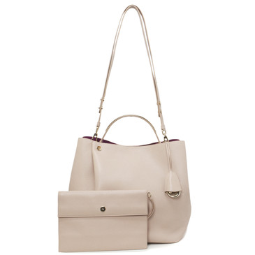 Christian Dior Nude Leather Diorific Bucket Bag