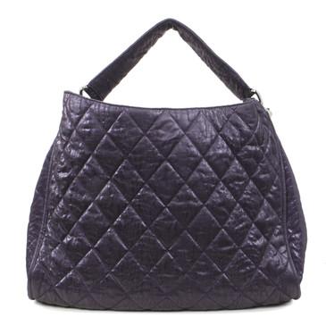 Chanel Purple Quilted Le Marais Ligne Hobo