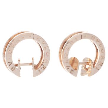 Bvlgari Bulgari 18K Pink Gold B.Zero1 Earrings