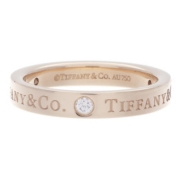Tiffany & Co. 18k Rose Gold & Diamond Band Ring