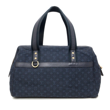 Louis Vuitton Blue Mini Lin Monogram Josephine GM