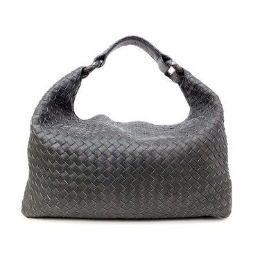 Bottega Veneta Grey Intrecciato Light Calf Sloane Bag