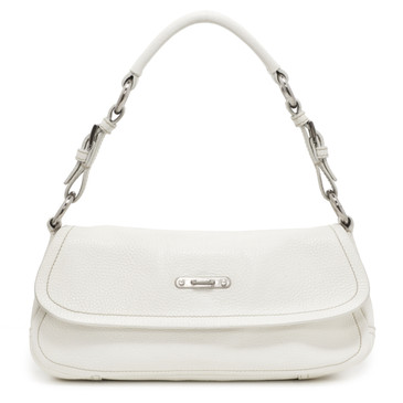 Prada Ivory Vitello Daino Shoulder Bag