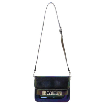Proenza Schouler Black Iridescent Patent Leather Mini PS11 Classic Shoulder Bag