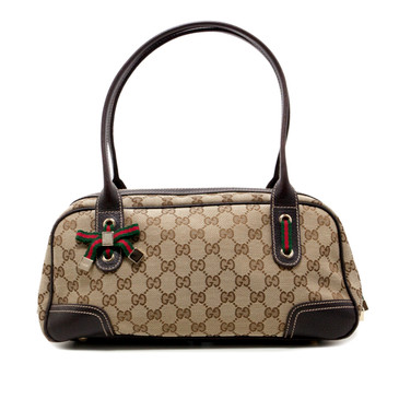 Gucci Monogram Canvas Princy Boston Bag