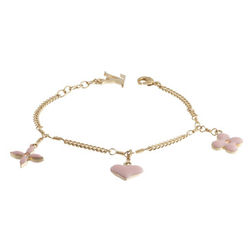 Louis Vuitton Pink Sweet Monogram Charm Bracelet