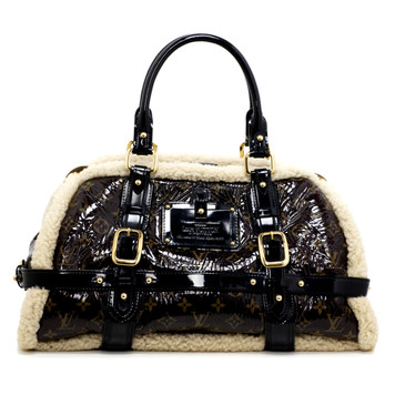 Louis Vuitton Limited Edition Monogram Shearling Storm Bag