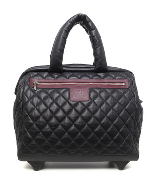 Chanel Black Quilted Lambskin Coco Cocoon Trolley