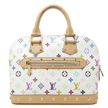 Louis Vuitton White  Multicolor  Alma PM