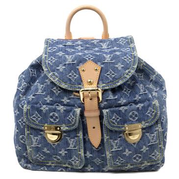 Louis Vuitton Blue Monogram Denim Sac a Dos PM Backpack