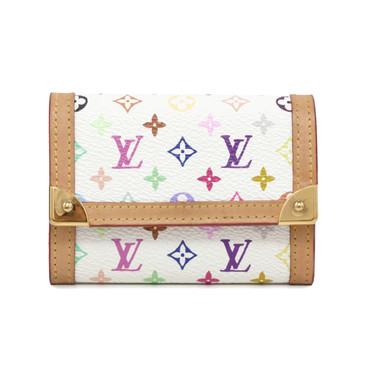 Louis Vuitton Multicolor Porte Monnaie Plat  Coin  Purse