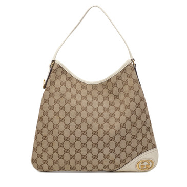 Gucci Monogram Canvas Medium New Britt Hobo