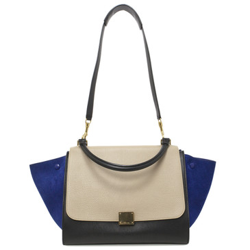 Celine Medium Tri Color Leather & Suede  Trapeze Bag