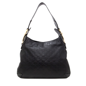Gucci Black Guccissima Creole Hobo Bag