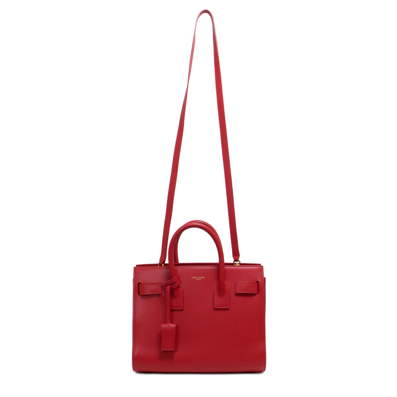 Saint Laurent Red Baby Sac De Jour Bag - modaselle 7358e54b0011a