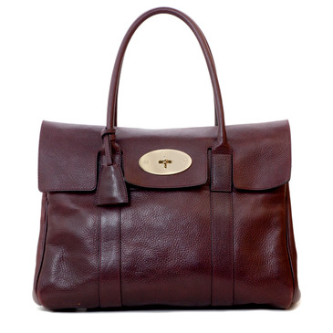 Mulberry Oxblood Natural Leather Bayswater