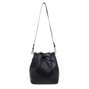 Saint Laurent Black Calfskin Large Emmanuelle Bucket Bag