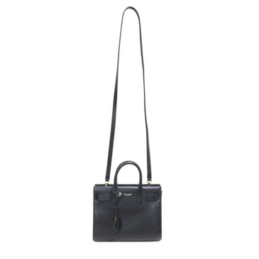 Saint Laurent Black Calfskin Nano Sac de Jour