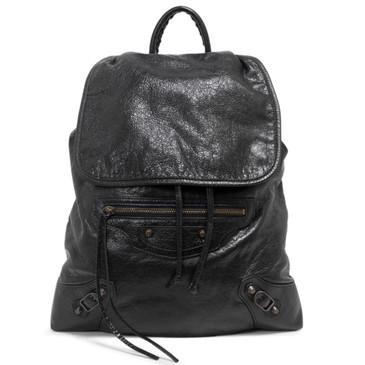 Balenciaga Black Lambskin Classic Traveller S Backpack
