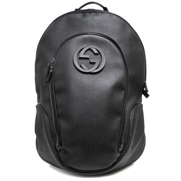 Gucci Black Supreme Canvas Interlocking G Backpack