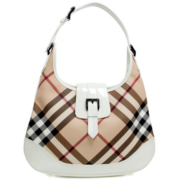 Burberry Supernova Check Canvas Hobo
