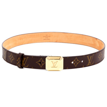Louis Vuitton Monogram Cabochon 30mm Belt