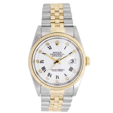 Rolex 18K & Stainless Steel Diamond Dial Datejust 16233