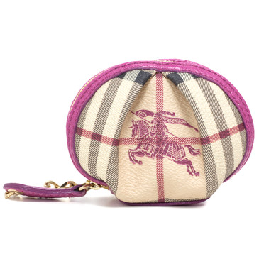 Burberry Haymarket Check Coin Purse & Key Ring