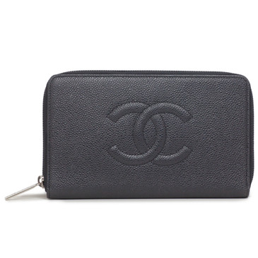 Chanel Black Caviar Timeless Organizer Wallet