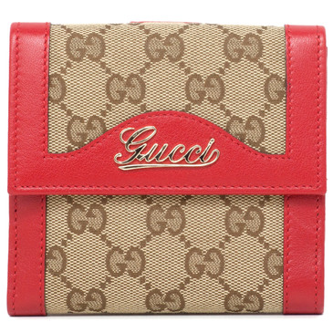 Gucci Monogram French Flap Wallet