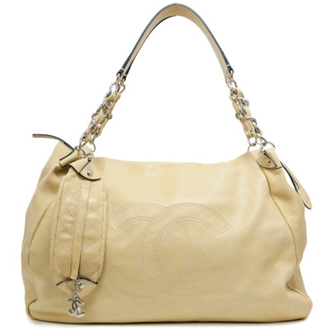 Chanel Beige Calfskin Soft Edgy Large Hobo