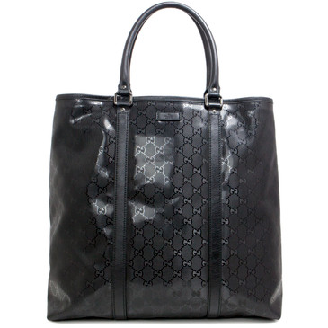 Gucci Black GG Imprime Large Tote