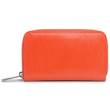Louis Vuitton Orange Epi Zippy Compact Wallet