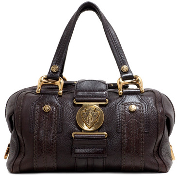Gucci Brown Leather Medium Aviatrix Boston Bag