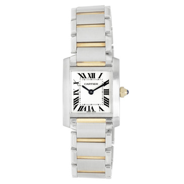 Cartier Stainless Steel & 18K Yellow Gold Tank Francaise Ladies Watch