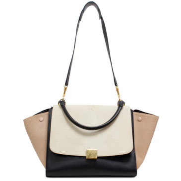 Celine Pony Hair Tricolor Medium Trapeze