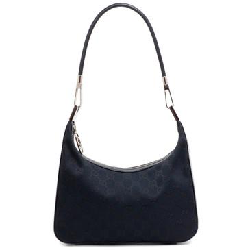 Gucci Black Monogram Small Shoulder Bag