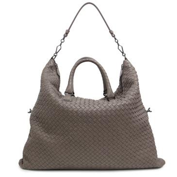 Bottega Veneta Taupe Intrecciato Nappa Leather  Maxi Convertible Bag