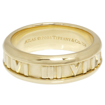 Tiffany & Co. 18K Yellow Gold Atlas Band Ring